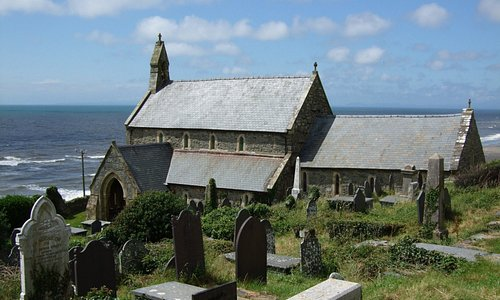 St Mary's Church Llanaber from the Churchyard