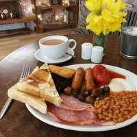 Sunday special 2 breakfasts with any standard hot drink 10.00