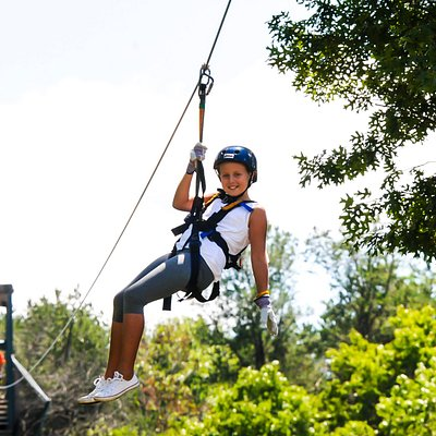 Zipline #6 at Bigfoot Ziplines, Wisconsin Dells, WI. 8-2016