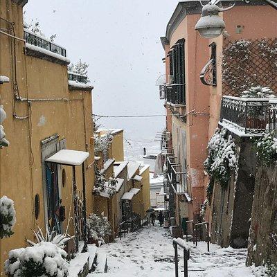 Il Petraio durante la storica nevicata del 27 febbraio 2018