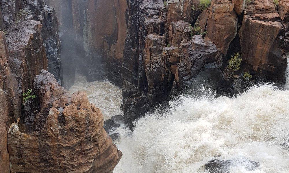 waterfalls next to the potholes
