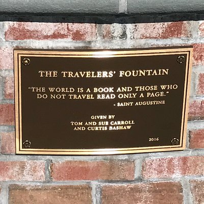 Travelers' Fountain in Rotary Park