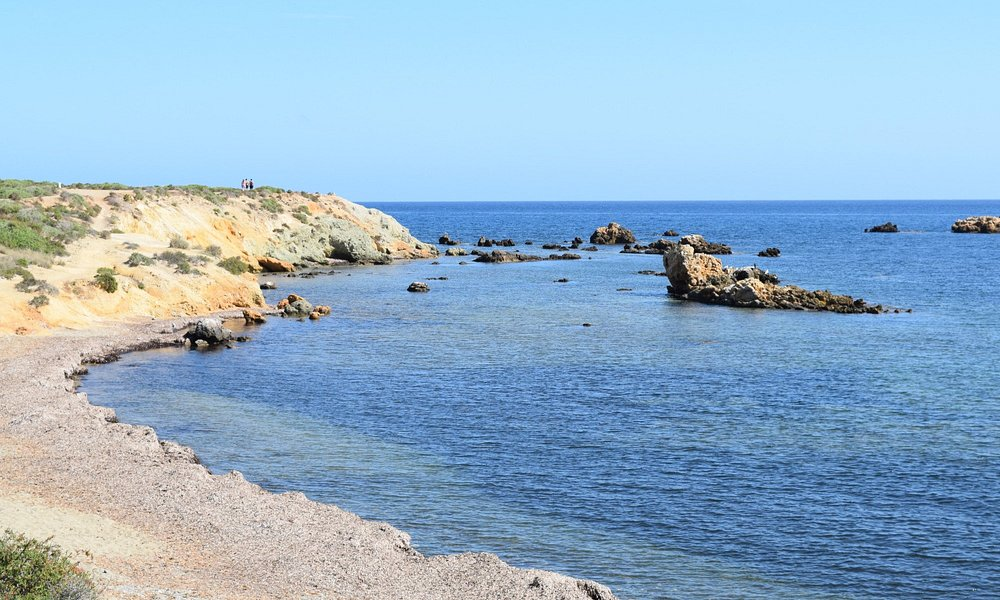 One of the secluded coves on the wild side of the island of Tabarca