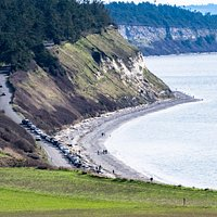 View of Ebey's landing from the hike pathe to Ebey's Bluff.