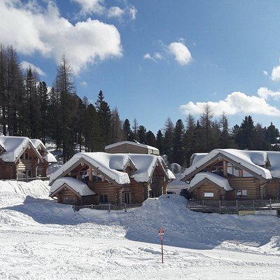 Apartments along the ski area