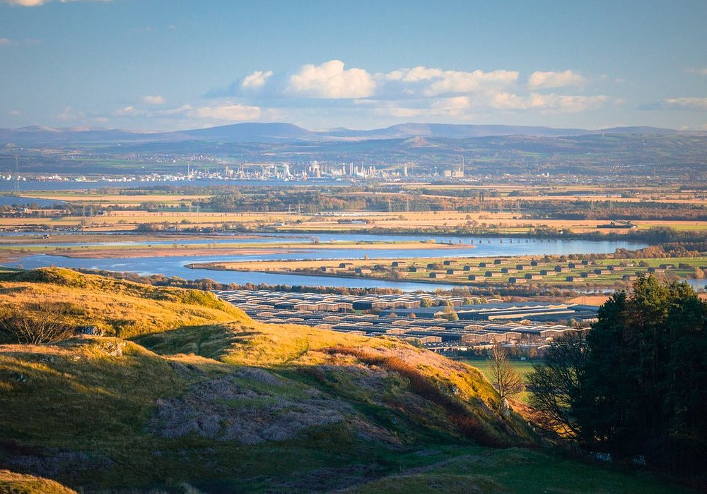 River Forth, with Grangemouth in the distance. © Discover Clackmannanshire / Damian Shields