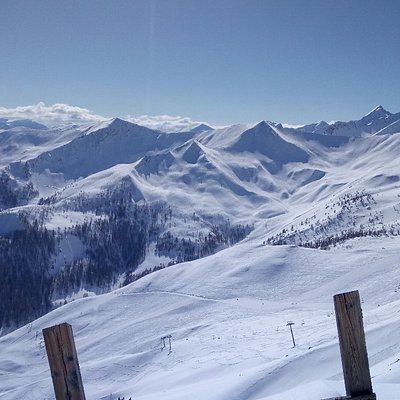 Pra Loup ski resort's landscapes and slopes.