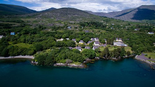 Ariel view of holiday rentals at Berehaven Lodge.