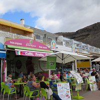 outdoor seating at Gelatomania