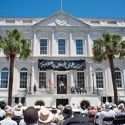 Exciting Spoleto Festival USA Opening Ceremonies at Charleston's City Hall; photo by Leigh Webbe
