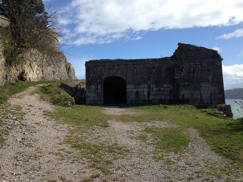 Fort structure on headland