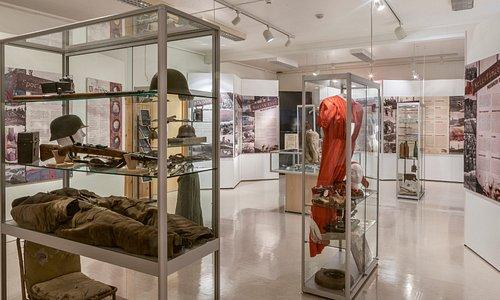"Porsanger museum, Skoganvarre, Porsanger municipality, Norway. Exhibition ""Traces of War""."