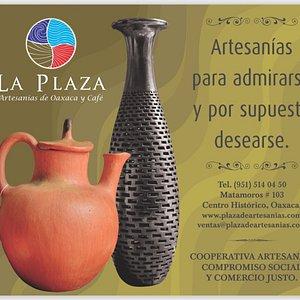 La Plaza, artesanías de Oaxaca y café. Artesanias para admirarse y por supuesto desearse.