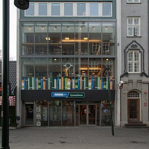 Built in 1960, Penninn Eymundsson in Austurstræti is the oldest active book store in Iceland.