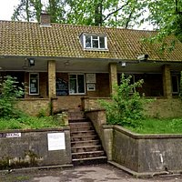 The bungalow which contains the secret bunker entrance