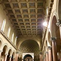 "The nave with the ""a cassettoni"" ceiling"
