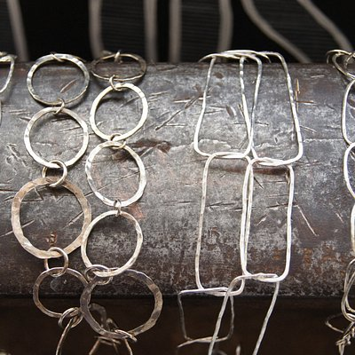 Handmade sterling silver chain from the Fort finery