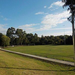Soccer field from stadium