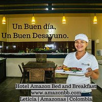 Awakening in the Amazon,  have breakfast at the Amazon B&B ¡Have a nice day!