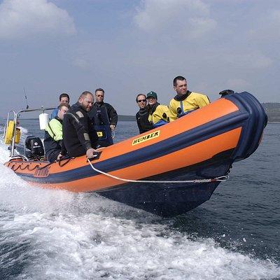 DV Diving's 8m RIB in Strangford Lough