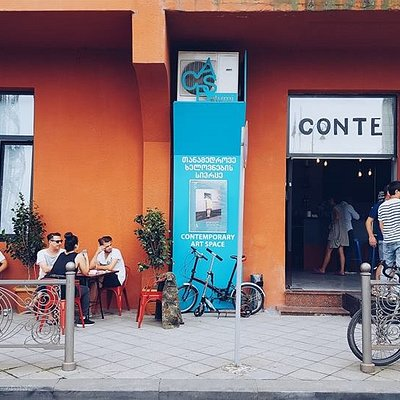 The exterior view of the Contemporary Art Space Batumi and Conte Bar