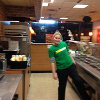 This has to be about the funnest Subway to eat out ever! The staff is always super friendly and
