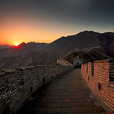 the Mutianyu Great wall sunset