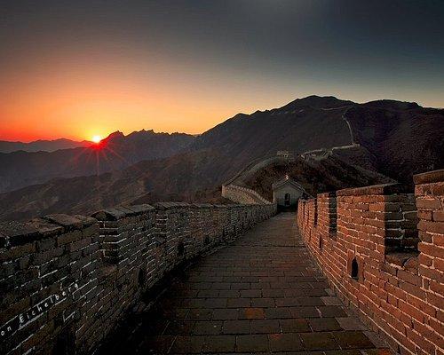 the Mutianyu Great wall sunset