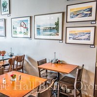 Diningroom featuring local art