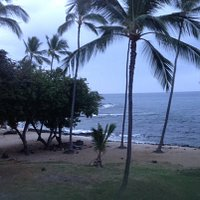 Honl Beach Park as seen from the Kona Reef condos