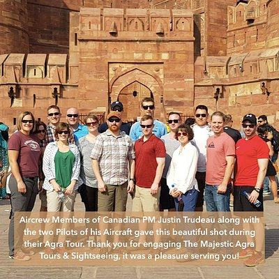 Aircrew Members of Canadian PM Justin Trudeau during their Agra Tour with us!