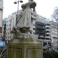 Arrière de la statue
