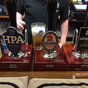 Selection of great ales at the pub