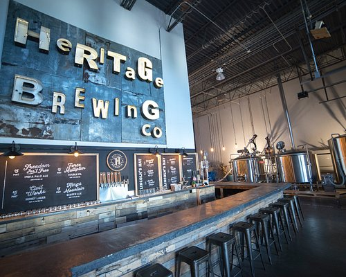 The new Heritage Brewing co. taproom.