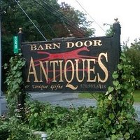 Barn Door Antiques Sign in Cresco