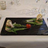 involtini di branzino con crema di broccoli e patate