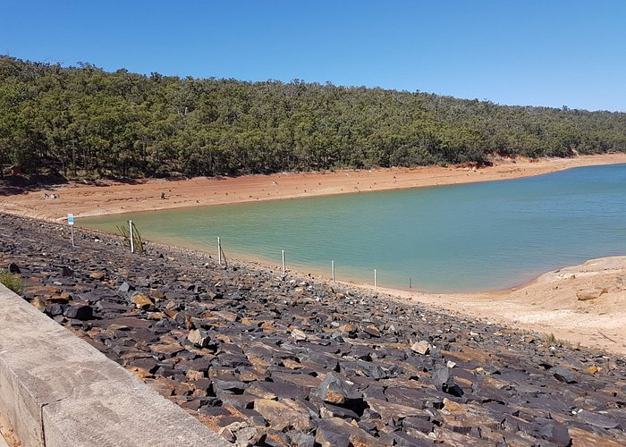 Lovely Dam - a little low at the end of Summer