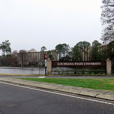 welcome sign for LSU