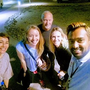 Booqify tour guide with happy clients in Dubai