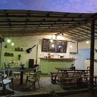 Our cozy Beach Cafe in the evenings.