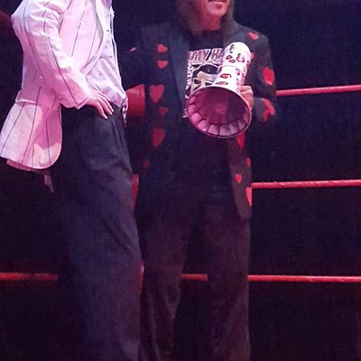Cutting a promo with hall of famer mouth of the south jimmy hart