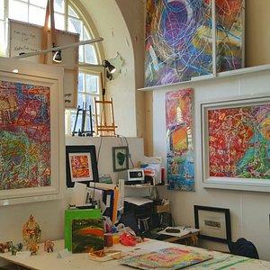 Interior photo of the gallery studio March 2018