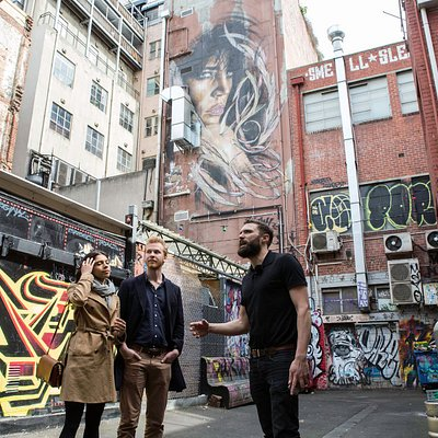 Co-founder, Dingo exploring some colourful Melbourne backstreets.