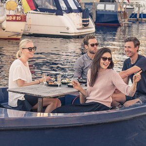 Enjoy a picnic while the Copenhagen scenery drifts slowly by