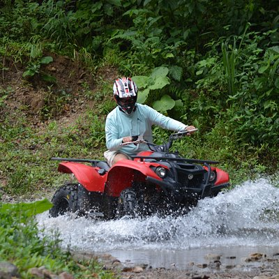 Roy crossing the creek