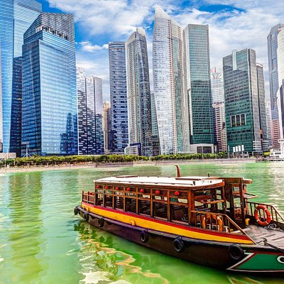 Singapore Skyline from the water. Fancy a boat ride?