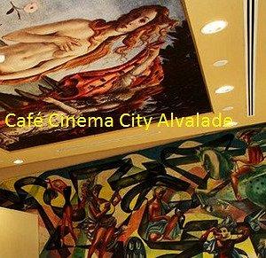 Café do Cinema: Tecto e parede