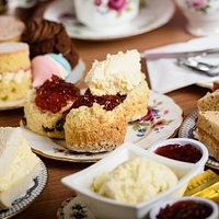 Cream Scones with Afternoon Tea!!!   YUM!