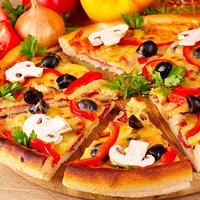 Pizza is special in cafe corner