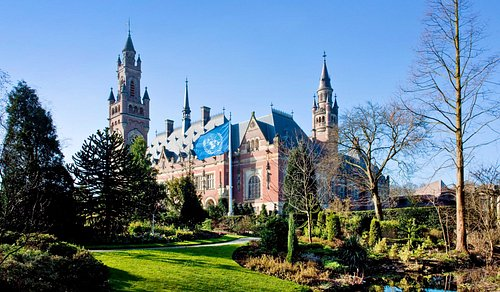 The Peace Palace sideview